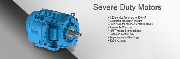 Severe duty motors weg motor sales for Weg severe duty motor